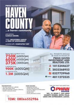Haven County Estate, Ilamija, Eleranigbe, Ibeju Lekki, Lagos, Mixed-use Land for Sale