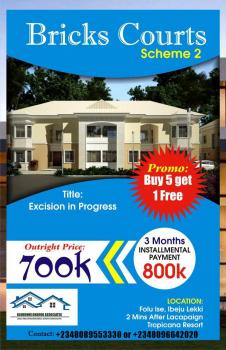 Cheapest Plot of Land, Bricks and Bar Estate, 3mins Drive From Lacampine Tripicana Resort, Ibeju, Lagos, Residential Land for Sale