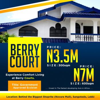 Land, Monastry Road, Behind The Biggest Shoprite. Novare Mall, Sangotedo, Ajah, Lagos, Residential Land for Sale