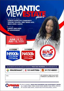 Land, Lacampane Tropicana Area, Atlanticview Estate Phase2, Mafogunde, Ibeju Lekki, Lagos, Mixed-use Land for Sale
