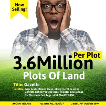 Free, Dry and Secured Land for Sale, Akondo, Ibeju Lekki, Lagos, Mixed-use Land for Sale