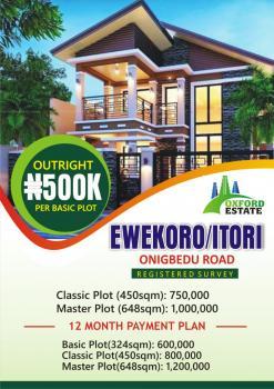 Plots of Land, Onigbedu Road, Ewekoro, Ogun, Residential Land for Sale