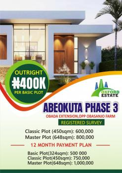 Plots of Land, Obada Extension, Opp. Obasanjo Farm, Abeokuta North, Ogun, Residential Land for Sale