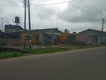 Strategically Located and Fully Dry Cornerpiece Plot with Structures., Agip Estate, Rumueme, Port Harcourt, Rivers, Mixed-use Land for Sale
