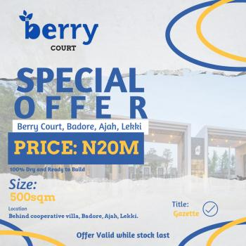 Luxurious Investment, Behind Cooperative Villa, Badore, Ajah, Lagos, Residential Land for Sale