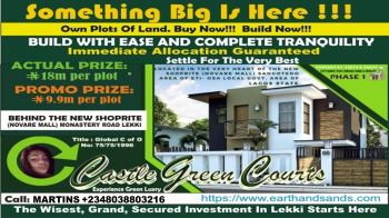 Castle Green Courts, Behind Shoprite (novare Mall), Off Monastery Road, Eti-osa L.g.a, Sangotedo, Ajah, Lagos, Mixed-use Land for Sale