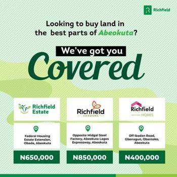 Plots of Land, Abeokuta North, Ogun, Residential Land for Sale