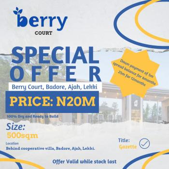 Berry Court, Badore, Ajah, Lagos, Land for Sale