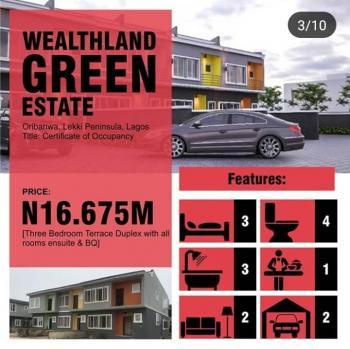 3 Bedroom Duplex + Bq + C of O, Oribanwa, Ibeju Lekki, Lagos, House for Sale