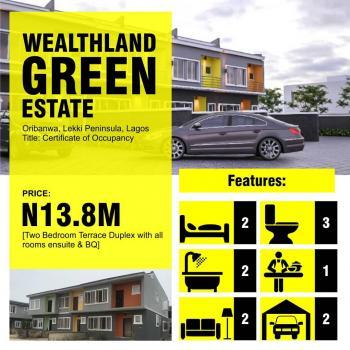 2 Bedroom + 1 Bq Terrace Duplex House Oribanwa-lakowe, Oribanwa, Ibeju Lekki, Lagos, Terraced Duplex for Sale