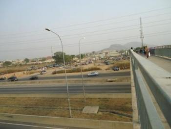 Petroleum Filling Land, Airport Road, at The Front of Ako (amac) Estate, By The Pedestrian Bridge, Lugbe District, Abuja, Commercial Land for Sale