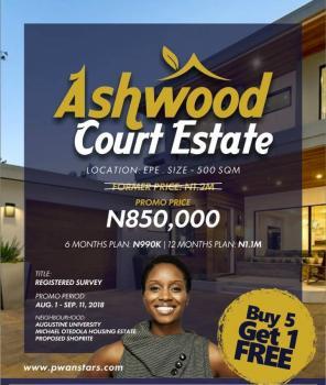 Ashwood Court Estate, Close to The Prestigious Augustine University and Otedola Housing Estate, Epe, Lagos, Mixed-use Land for Sale