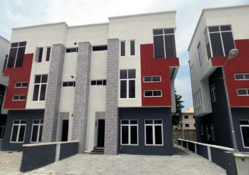 4 Bedroom Home with 24 Hour Power Supply and Gym, Near Shoprite, Osapa, Lekki, Lagos, Semi-detached Duplex for Sale