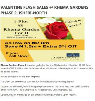Rhema Garden Phase 2, on The Same Road with Channels Tv Hq, Gra, Isheri North, Lagos, Residential Land for Sale
