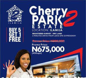 Cherry Park Estate 2  (buy 5 Get 1 Free), Ilamija, Off Ibeju Lekki Express Way, Ibeju Lekki, Lagos, Residential Land for Sale