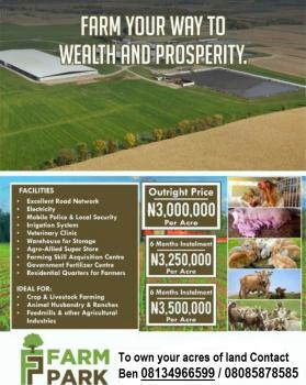 Acres of Ready Farmland and Farm Services in Serviced Estate, Off Epe Expressway, Epe, Lagos, Commercial Land for Sale