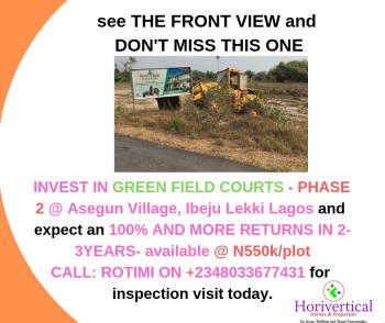 Real Estate Opportunity That Is Real - Buy Greenfield Courts (phase 2), Asegun, Ibeju Lekki, Lagos, Mixed-use Land for Sale