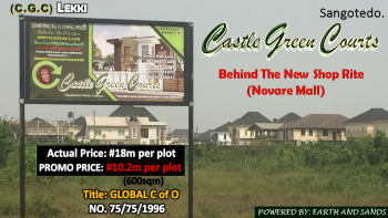 Castle Green Courts, Behind Shop Rite (novare Mall), Off Monastery Road, Eti- Osa L. G. a, Sangotedo, Ajah, Lagos, Mixed-use Land for Sale