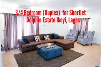 Luxurious 4 Bedroom (duplex), Dolphin Estate, Ikoyi, Lagos, Flat Short Let