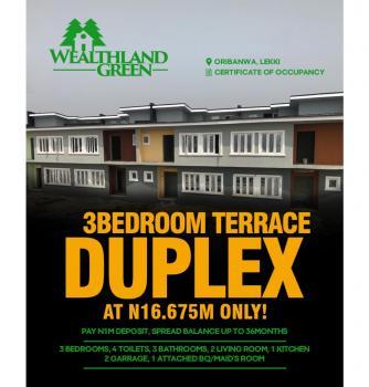 3 Bedroom Terraced Duplex All Ensuite,  Ajah, 5mins Drive From Ajah, Ajah, Lagos, House for Sale