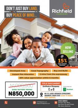 Richfield Estate, Kay Plaza, Okelewo, Abeokuta North, Ogun, Mixed-use Land for Sale