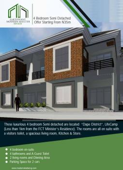 Coming Soon Top Class & Top-notch Built 4 Bedrooms Semi Detached Duplex Within a Serviced Estate, Near Juilius Berger Senior Staff Quarters By Fct Ministers Residence, Life Camp, Gwarinpa, Abuja, Semi-detached Duplex for Sale