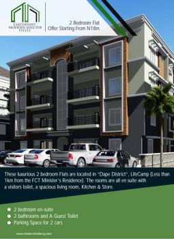 Coming Soon Lavishly Designed & Sizeable Block of 2 Bedroom Luxury & Serviced Apartments, By Juilius Berger Senior Staff Quarters, Life Camp, Gwarinpa, Abuja, Flat for Sale