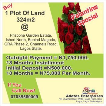 Plot of Land 324m2, Priscone Garden Estate, Behind Magodo, Gra Phase 2, Channels Road, Gra, Isheri North, Lagos, Residential Land for Sale