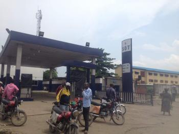 Functional 6 Pumps Petrol Station on 1732sqm and Extra Plot at The Back, Ewedogbon Bus Stop, Lasu Iba Road, Iba, Ojo, Lagos, Filling Station for Sale