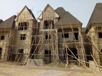 Carcass Building with Elevator in a Mini Estate for Sale in Guzape, Guzape District, Abuja, Terraced Duplex for Sale