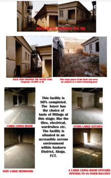 Very Spacious 4 Bedroom Twin Duplex, Asokoro District, Abuja, Detached Duplex for Sale