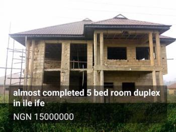 Almost Completed 5 Bedroom Duplex, Mokuro, Ife East, Osun, Detached Duplex for Sale