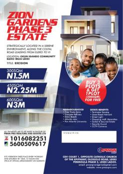 Live in a Cool Environment, Zion Gardens Phase 2 with Government Excision, Zion Garden Phase 2, Eleko, Ibeju Lekki, Lagos, Mixed-use Land for Sale