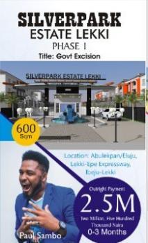 Silverpark Phase 1 ( Buy  Two Get One Free), Eluju, Ibeju Lekki, Lagos, Residential Land for Sale