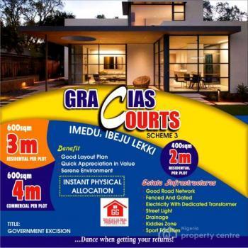 Lands/service Plots  @ N1,500,000.00, Gracias Courts Scheme 3, 5 Minutes Drive From La Campaign Tropicana Beach Resort, Igbogun Road, Asegun, Ibeju Lekki, Lagos, Mixed-use Land for Sale