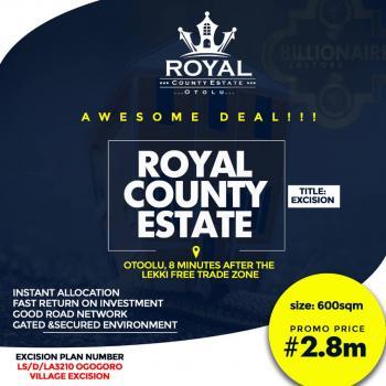 Royal County Estate , Lekki, 5 Mins Drive After Lekki Free Trade Zone, Ibeju Lekki, Lagos, Land for Sale