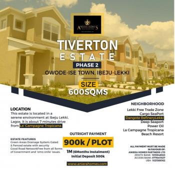 Dry Land with High Return on Investment with Proximity to La Campagne Tropicana Resort, Ibeju Lekki, Lagos, Commercial Land for Sale