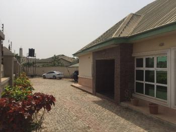 a Corner Peace Luxury 3 Bedroom Bungalow with 4 Toilets, 1 Gym Room and 1 Bq with Large Surroundings to Accommodate 4 Cars, Efab City Estate, Jabi, Abuja, Terraced Bungalow for Sale