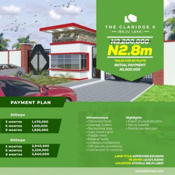 The Claridge Ii, Shortly Afterotoolu, Lekki Free Trade Zone, Lekki, Lagos, Residential Land for Sale