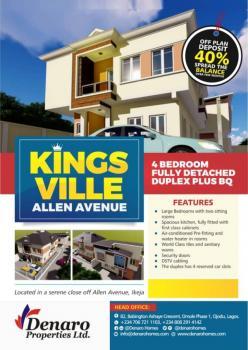 Lovely 4 Bedroom Duplex Plus Bq, Off Allen Avenue, Allen, Ikeja, Lagos, Detached Duplex for Sale