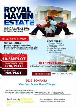 Dry Plots of Land, Royal Haven Estate, Abijo, Lekki, Lagos, Residential Land for Sale