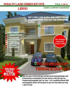 Wealthland Green Estate, 4 Bedroom Duplexajah, 5mins Drive From Mayfair Gardens, Ajah, Lagos, House for Sale