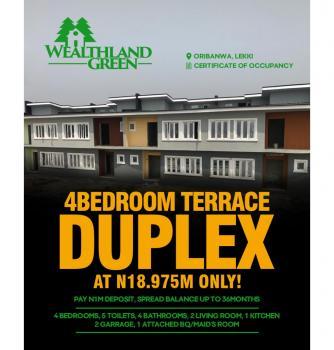 Luxurious 4 Bedroom Terrace Duplex, Awoyaya, Ibeju Lekki, Lagos, Terraced Duplex for Sale