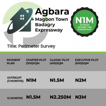 Land /service Plots, Magbon, Badagry, Lagos, Land for Sale