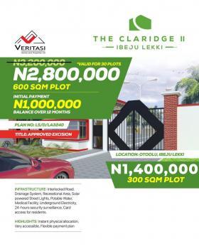 Claridge Ii Estate, One Minute Drive Just Off The Ibeju Lekki Expressway Heading to La Campagne Tropicana Beach Resort, Folu Ise, Ibeju Lekki, Lagos, Mixed-use Land for Sale