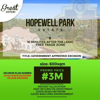 Plots of Amazing 100% Dry Land, Hopewell Park Estate, a Few Mins From La Champagne Tropicana Beach Resort, Lapekun, Ibeju Lekki, Lagos, Mixed-use Land for Sale
