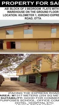 a Block of 3 Bedroom Flats with Warehouse on The Ground Floor, Idiroko Express Road, Sango Ota, Ogun, Block of Flats for Sale