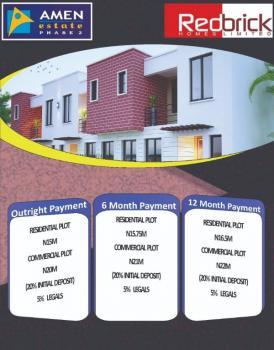 600sqm Serviced Plots of Land @ Prestigious Amen Estate Phase 2, Opp. Amen Estate Phase 1, Eleko, Ibeju Lekki, Lagos, Residential Land for Sale