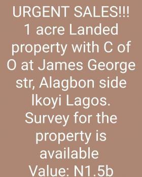 Plots of Land, James George, Close to Alagbon, Old Ikoyi, Ikoyi, Lagos, Mixed-use Land for Sale