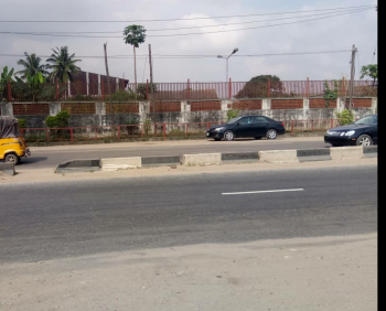 a Strategically Located Table and Corner Piece 9 Acres of Land (37,440 Square Metres) with Dilapidated Ware Houses, Oba Akran, Ikeja, Lagos, Commercial Land for Sale